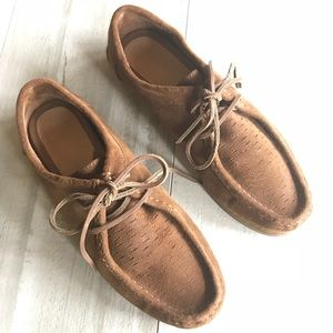Frye Leather Quincy Moccasin Boat Oxford Shoes